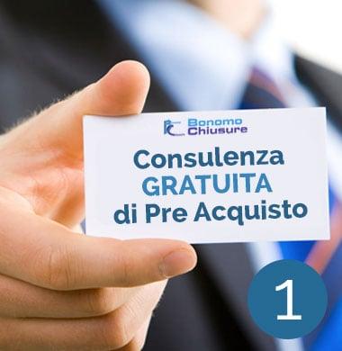 Consulenza gratuita di pre-acquisto serramenti Bonomo Chiusure