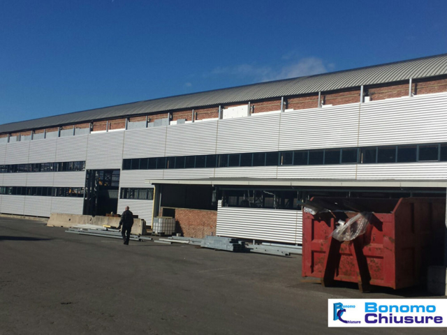copertura facciata capannone industriale alluminio monza brianza milano