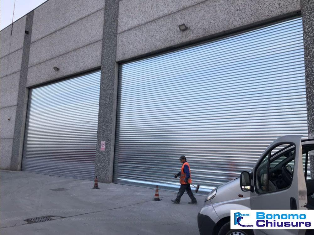 Serranda avvolgibile alluminio industriale installazione provincia milano monza brianza